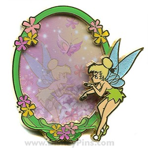 Disney Tinker Bell Pin - Watercolor Oval