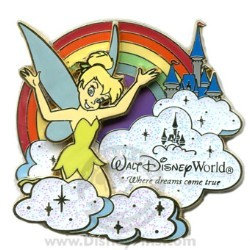Disney Where Dreams Come True Rainbow Pin - Tinker Bell