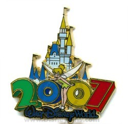 Disney Tinker Bell Pin - 2007 Cinderella Castle Collection