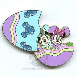 Disney Easter Pin - Mickey & Minnie - Easter Egg Bunny Rabbits