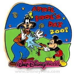 Disney April Fool's Day Pin - Mickey and Goofy