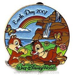 Disney Earth Day Pin - 2007 - Chip and Dale