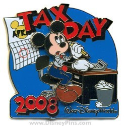 Disney Tax Day Pin - Mickey Mouse