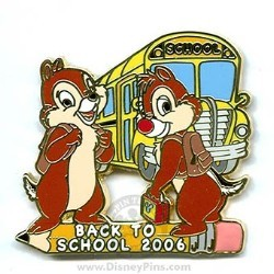 Disney Back to School Pin - 2006 - Chip and Dale