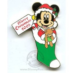 Disney Merry Christmas Pin - Pin Pursuit - Mickey Mouse Stocking