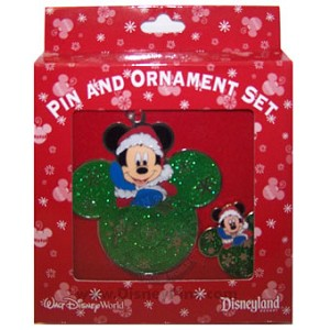 Disney Pin and Ornament Set - Mickey Mouse