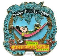 Disney Resort Christmas Wreath Pin - Caribbean Beach Resort