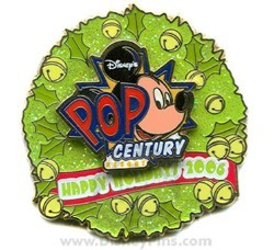 Disney Resort Christmas Wreath Pin - Pop Century Resort