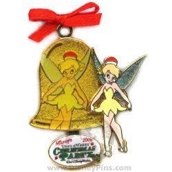Disney Very Merry Christmas Party 2006 Pin - Tinker Bell with Bell