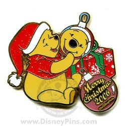 Disney Merry Christmas Pin - Character Ornaments - Winnie the Pooh