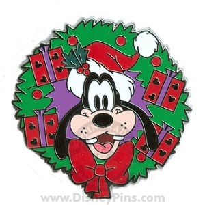 Disney Mystery Tin Pin - Happy Holiday 2008 - Goofy