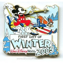 Disney First Day of Winter Pin - 2005 Mickey Mouse and Goofy