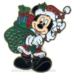 Disney Christmas Pin - Santa Mickey - Jeweled