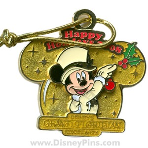 Disney Happy Holidays Pin - 2008 - Grand Floridian Resort