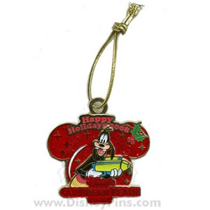 Disney Happy Holidays Pin - 2008 - Caribbean Beach Resort