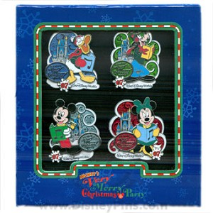 Disney Boxed Pin Set - Mickey's Very Merry Christmas Party 2007