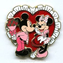 Disney Valentine's Day Pin - Mickey & Minnie Mouse - Gift Exchange