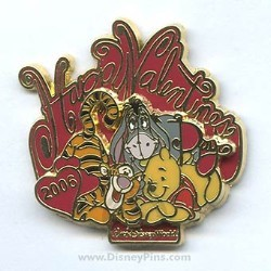 Disney Valentine's Day Pin - Winnie the Pooh, Tigger and Eeyore