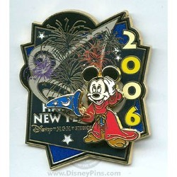 Disney Happy New Year Pin - MGM Studios