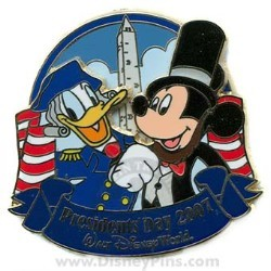 Disney Presidents Day Pin - Mickey and Donald