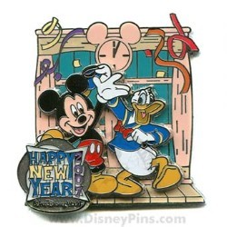 Disney New Year's Pin - Mickey and Donald