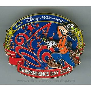 Disney Independence Day Pin - Disney-MGM Studios - Goofy