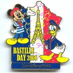 Disney Bastille Day Pin - Mickey Mouse and Donald Duck