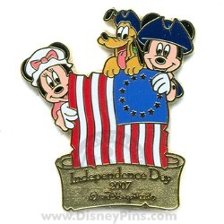 Disney Independence Day Pin - Mickey, Minnie and Pluto