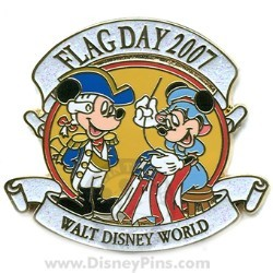 Disney Flag Day Pin - Mickey and Minnie