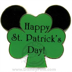 Disney St. Patrick's Day Pin - Mouse Ears on Shamrock