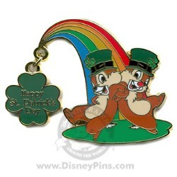 Disney St. Patrick's Day Pin - Chip and Dale