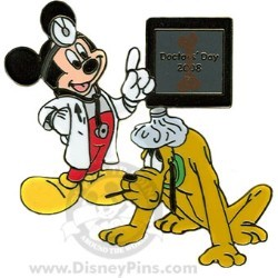 Disney Doctors' Day Pin - Mickey and Pluto
