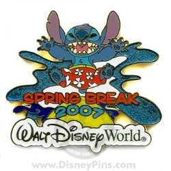 Disney Spring Break Pin - 2007 - Stitch