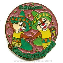 Disney Cinco De Mayo Pin - Chip and Dale