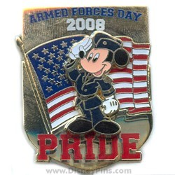 Disney Armed Forces Day Pin - Mickey Salutes