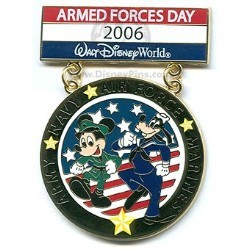 Disney Armed Forces Day Pin - Mickey Mouse and Goofy