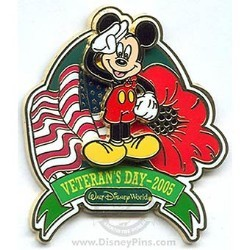Disney Veteran's Day Pin - Patriotic Mickey Mouse