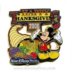 Disney Happy Thanksgiving Pin - 2006 Mickey Mouse