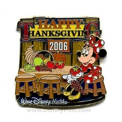 Disney Happy Thanksgiving Pin - 2006 Minnie Mouse