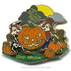 Disney Halloween Party 2006 Pin - Chip and Dale Pumpkin