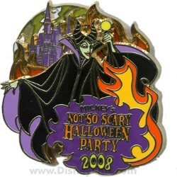 Disney Not So Scary Halloween Party Pin - 2008 - Maleficent