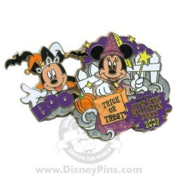 Disney Not So Scary Halloween Party Pin - 2008 - Mickey and Minnie