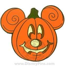 Your wdw store disney halloween pin mickey mouse pumpkin for How to paint a mickey mouse pumpkin
