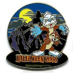 Disney Haunted Parks 2006 Pin - Chip and Dale
