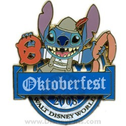 Disney Oktoberfest Pin - 2008 Stitch