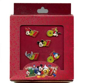 Disney Boxed Booster Pin Set - 2007 - Mickey and Friends