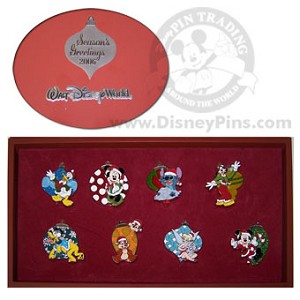Disney Boxed Pin Set - Christmas Ornament Pins - Mickey and Friends