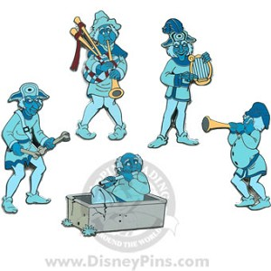 Disney Boxed Pin Set - Haunted Mansion - Ghostly Quintet
