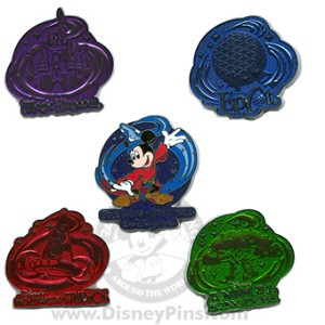 Disney Boxed Pin Set - Four Parks One World