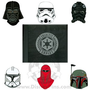 Disney Star Wars Weekends 2008 6 Jumbo Dark Side Helmets Boxed Pin Set